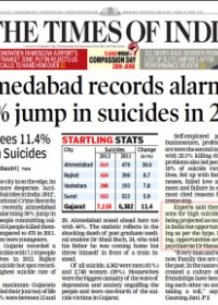 Ahmedabad records alarming 30% jump in suicides in 2012
